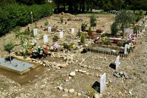 Le carré musulman dans un cimetière catholique à Bruzzano, dans la banlieue de Milan, le 5 juin 2020