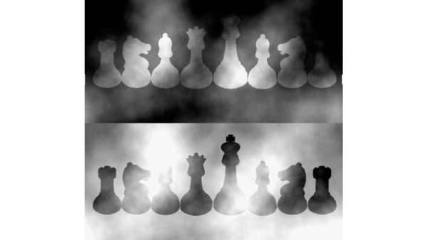 Les pièces d'échecs sont toutes de la même couleur.