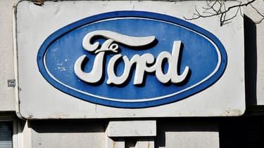 Un panneau du site de Ford à Blanquefort (Aquitaine).