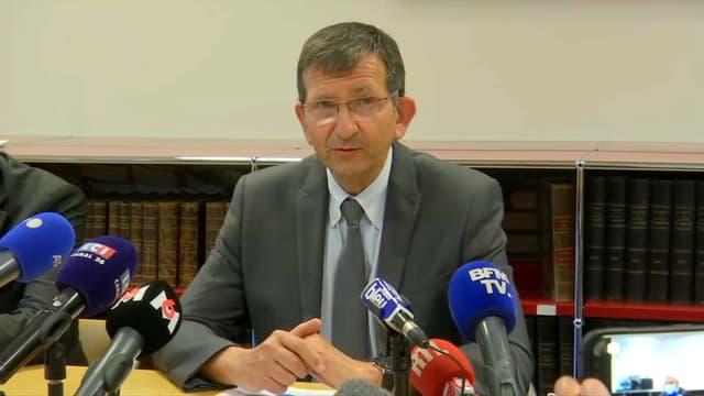 Le procureur de la République d'Avignon ce lundi.