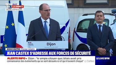 """Jean Castex annonce que dès la rentrée, les forces de l'ordre seront renforcées """"d'une vingtaine d'effectifs supplémentaires"""" à Dijon"""