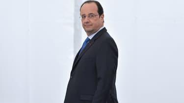 François Hollande lors de sa visite à Clermont-Ferrand, le 18 avril.
