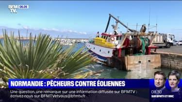 Des pêcheurs se mobilisent contre la construction d'un parc éolien au large des côtes normandes