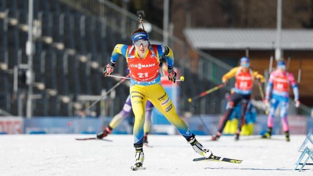 Linn Persson a remporté le relais mixte simple avec Sebastian Samuelsson.