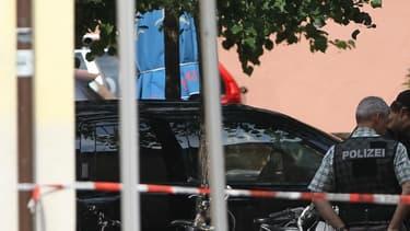 La police enquête à Ansbach (Bavière) le 25 juillet.