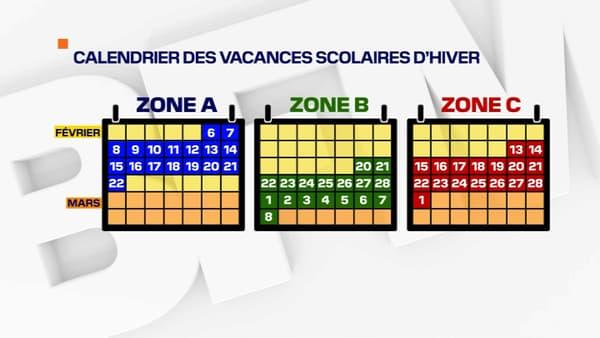 Le calendrier actuel des vacances scolaires d'hiver.