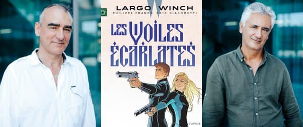 Le dessinateur Philippe Francq et le scénariste Eric Giacometti, les auteurs de Largo Winch.