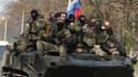 Des rebelles prorusses, le 16 avril 2014, à Kramatorsk, dans l'Est de l'Ukraine. (photo d'illustration)