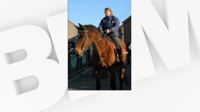 Elke Vandersanden et son cheval Vivie.