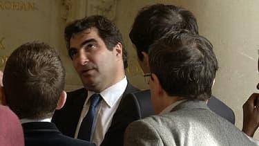 Le chef de file des députés UMP, Christian Jacob, dans les couloirs de l'Assemblée nationale.