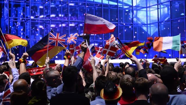 Des drapeaux durant l'Eurovision 2014 au Danemark