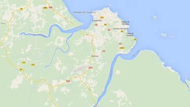 Situation géographique de Matoury, en Guyane.