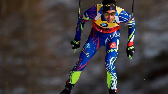 Martin Fourcade, vainqueur de la poursuite à Hochfilzen