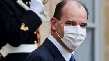 Le Premier ministre Jean Castex à la sortie du palais de l'Elysée le 6 janvier 2021 à Paris