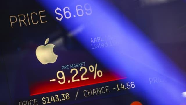 Apple a vécu sa pire séance depuis 2013 à la Bourse de New York.