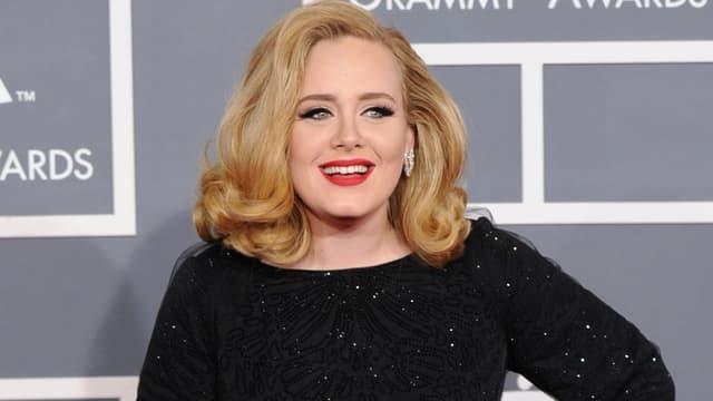 La chanteuse Adele lors des Grammy Awards à Los Angeles en 2012