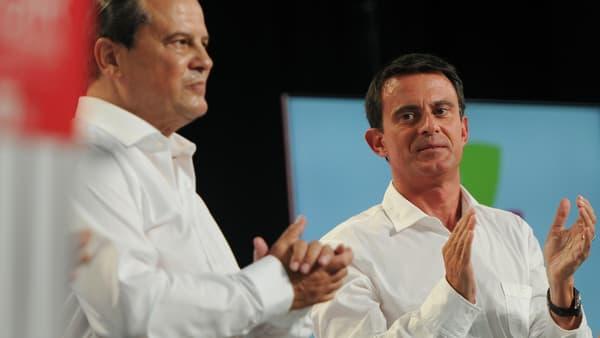 Jean-Christophe Cambadélis et Manuel Valls.