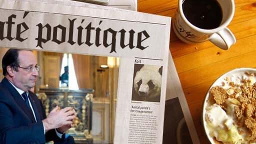 François Hollande, dans son bureau à l'Elysée, tacle parfois son prédécesseur.