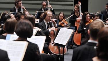 Des musciens de l'Orchestre Lamoureux en février 2013
