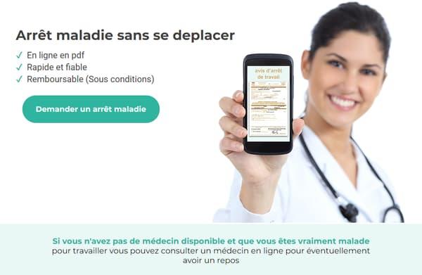 Arretmaladie.fr : page d'accueil du site corrigée après la polémique