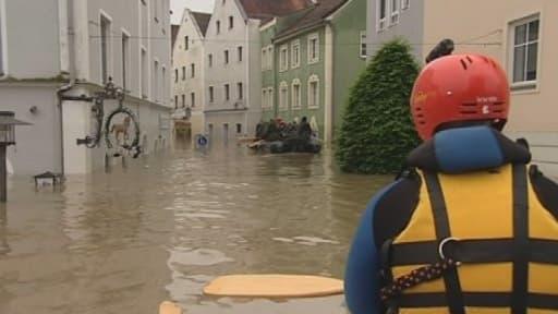 La ville de Passau, au sud-est de l'Allemagne, touchée par une crue historique