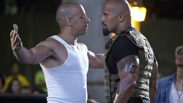 VIn Diesel et Dwayne Johnson dans Fast and Furious 5