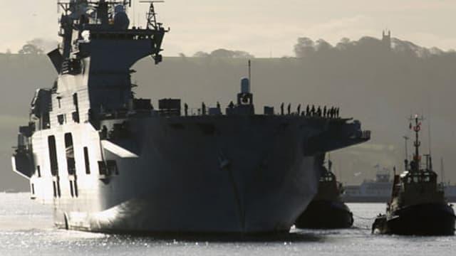 Le porte-avions Ocean de la Royal Navy va stationner dans la Tamise pendant les Jeux