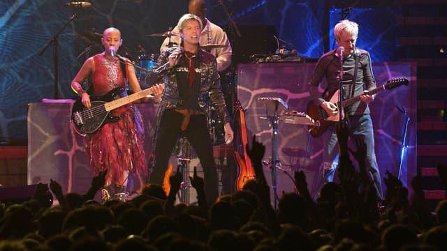 David Bowie sur scène, le 20 octobre 2003