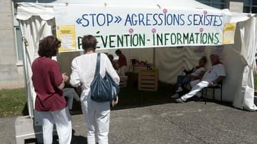 La tente du Centre d'accueil et de prévention, le 27 juillet 2017.