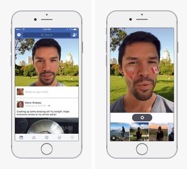 Les stickers et les filtres font leur apparition sur l'application mobile de Facebook au Canada et au Brésil.