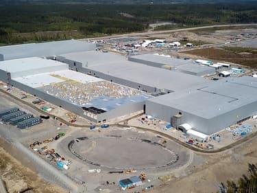 Northvolt construit actuellement une usine de batteries dans le nord de la Suède.