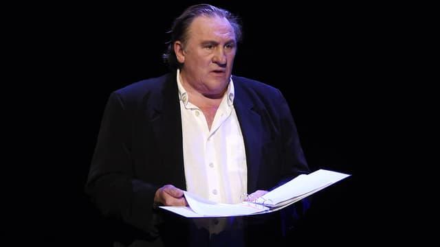 Gérard Depardieu au théâtre du Châtelet à Paris