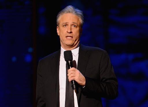 L'humoriste Jon Stewart à New York, le 28 février 2015 à New York