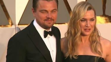 Leonardo DiCaprio et Kate Winslet à la cérémonie des Oscars 2016