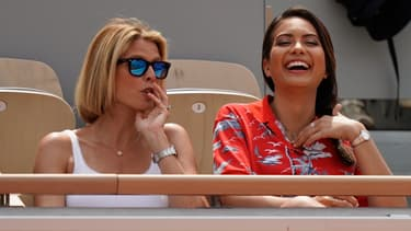 Sylvie Tellier et Miss France 2019 Vaimalama Chaves à Roland Garros