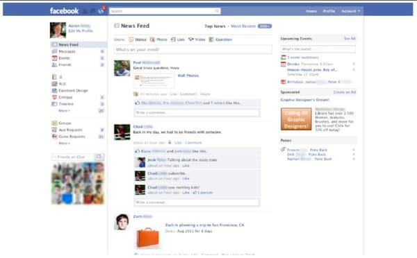 Le fil d'actu de Facebook