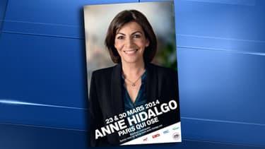 Anne Hidalgo a dévoilé son affiche officielle pour la campagne des municipales 2014.