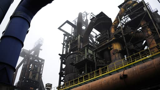 Vue du site sidérurgique Arcelor-Mittal de Florange (Moselle)