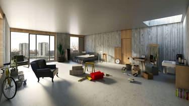 L'intérieur d'une Naked House