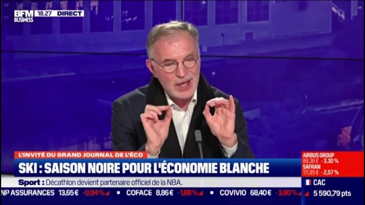 """Dominique Marcel (Compagnie des Alpes): """"Il n'y a pas plus de risques d'aller dans une station de ski que dans une station de métro""""."""