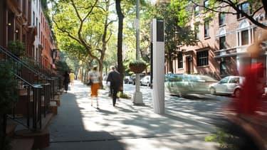 Un exemple de design des futures bornes, ici dans une zone résidentielle du quartier de Brooklyn.