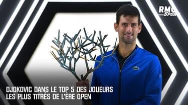 Tennis : avec 77 titres, Djokovic égale McEnroe et intègre le top 5 de l'ère Open