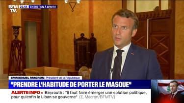 "Emmanuel Macron recommande ""par précaution de mettre un masque"""