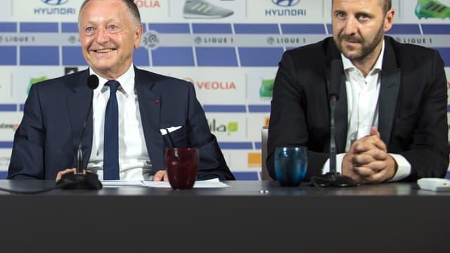 Jean-Michel Aulas et Florian Maurice