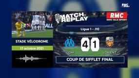 OM 4-1 Lorient : Le goal replay de la victoire marseillaise avec les commentaires de RMC
