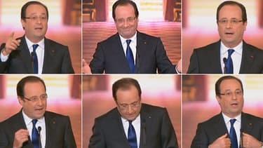 François Hollande lors de sa conférence de presse du 16 mai 2013, à l'Elysée à Paris