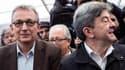 Pierre Laurent et Jean-Luc Mélenchon en septebre 2013, lors de la fête de l'Humanité.