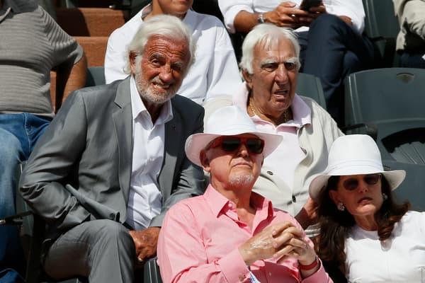 Jean-Paul Belmondo et Charles Gérard à Roland-Garros en 2015