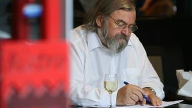 L'écrivain Michel Le Bris à Paris, le 25 octobre 2008