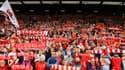 Les tribunes de Liverpool